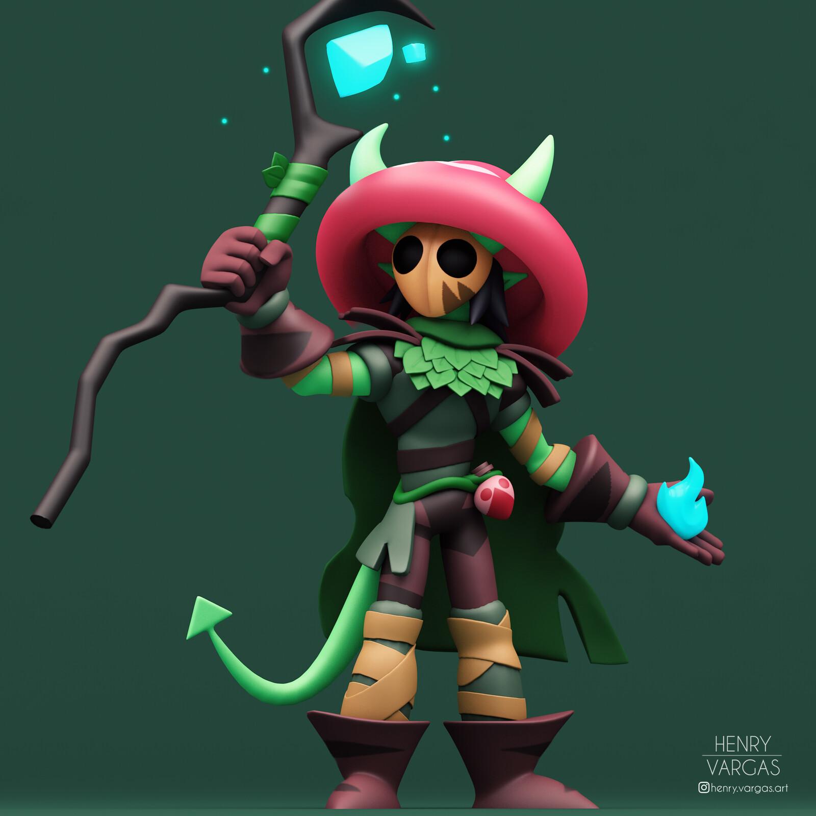 Yara, the Tiefling Druid