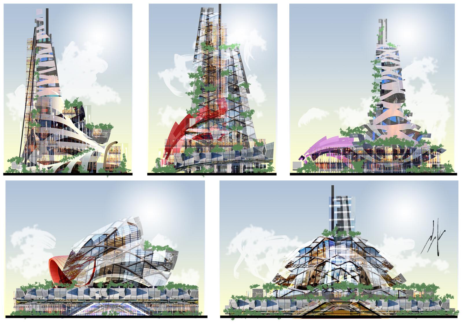 Modern Futuristic Architrecture