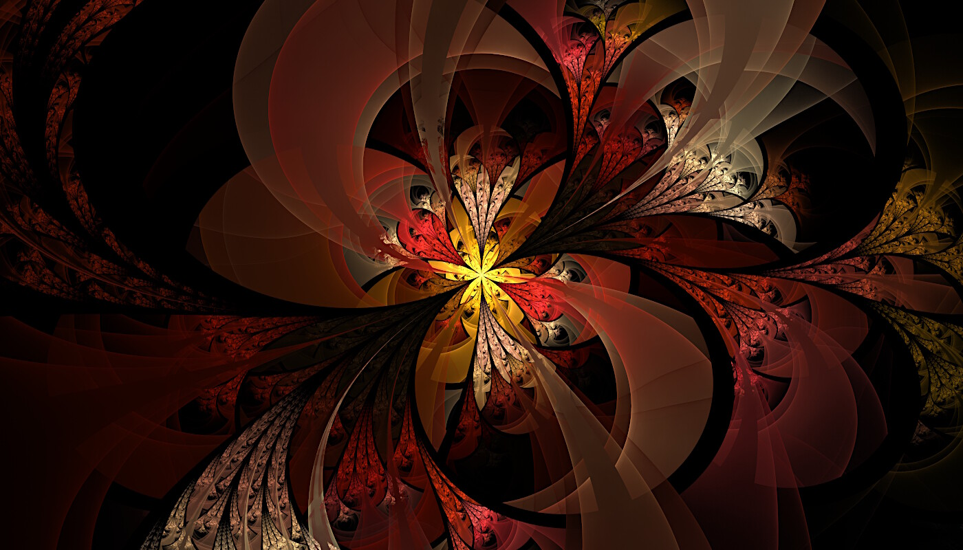 Autumn - An old favorite. I remember being so proud when this finished rendering in Apophysis.