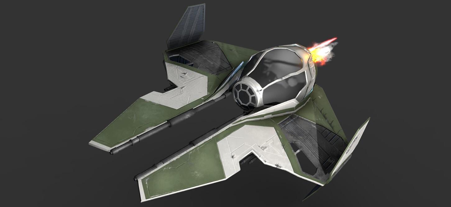 Ewan Tennent Starwars Yoda S Eta 2 Actis Class Interceptor