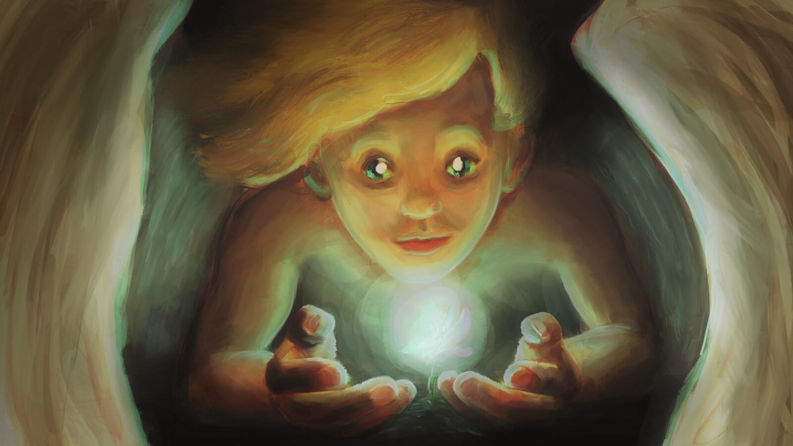 Cherub grom finds a light