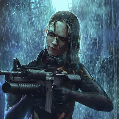 Soufiane idrassi cyberpunk poster copy
