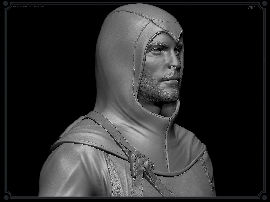 Renan assuncao zbrush medieval collectible statue print assassins creed renan assuncao 5