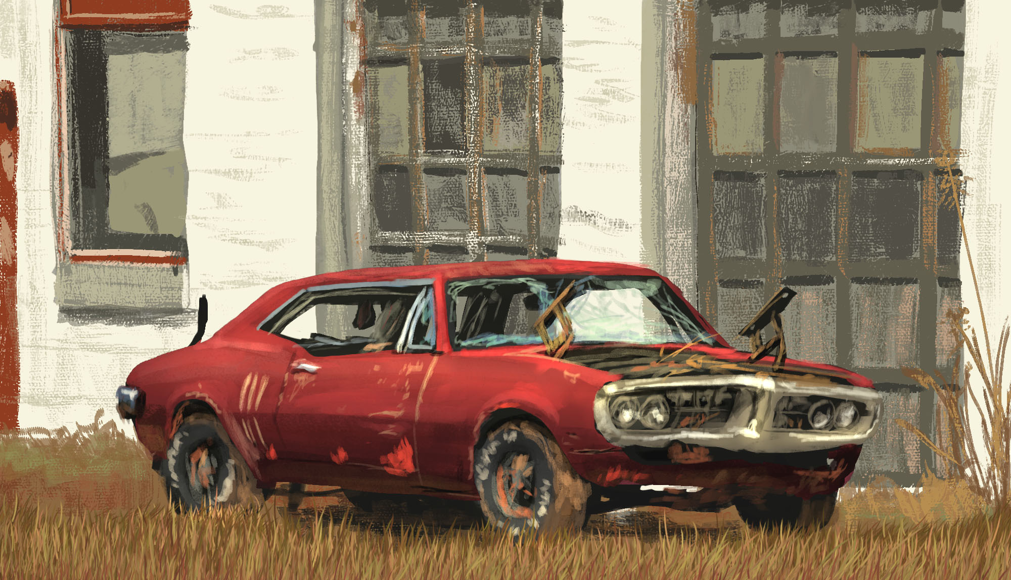 Photo Study: Red Rusts Faster  The decay and decomposition of such a beautiful man-made thing is always interesting as well as a bit sad. Somehow peaceful as well. These days I have try an intact car as well, I think...