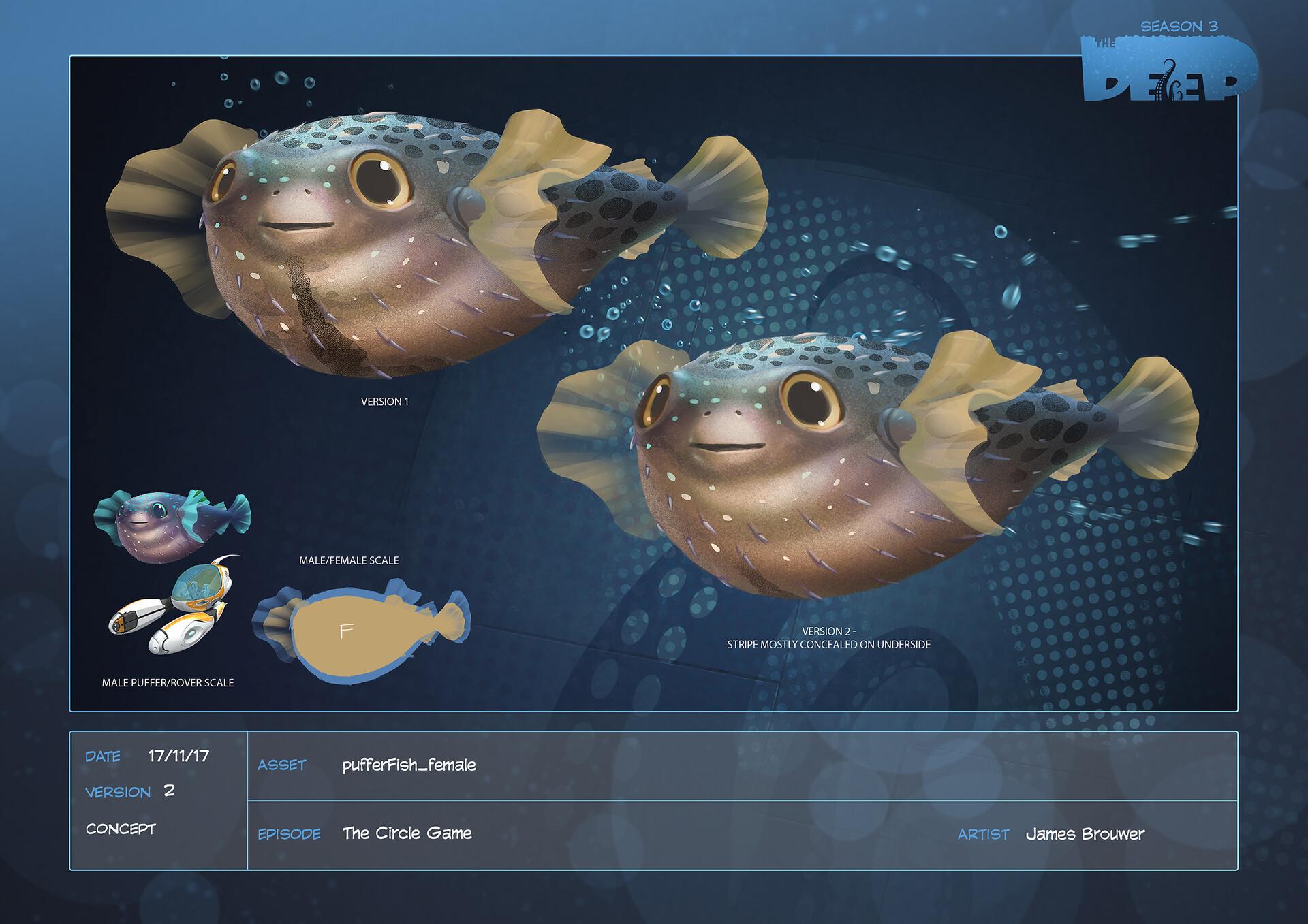 James brouwer pufferfish female design v002