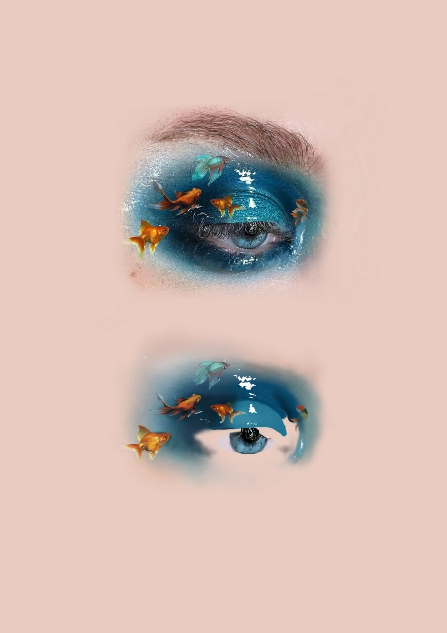 Sanzhan Zhaksylyk Step By Step Realistic Eye Drawing From Reference Image In Photoshop