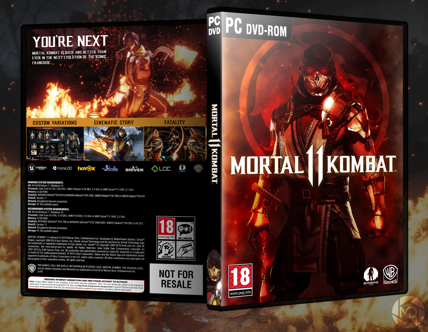 Artstation Mortal Kombat 11 Pc Dvd Cover Scorpion Mdesign
