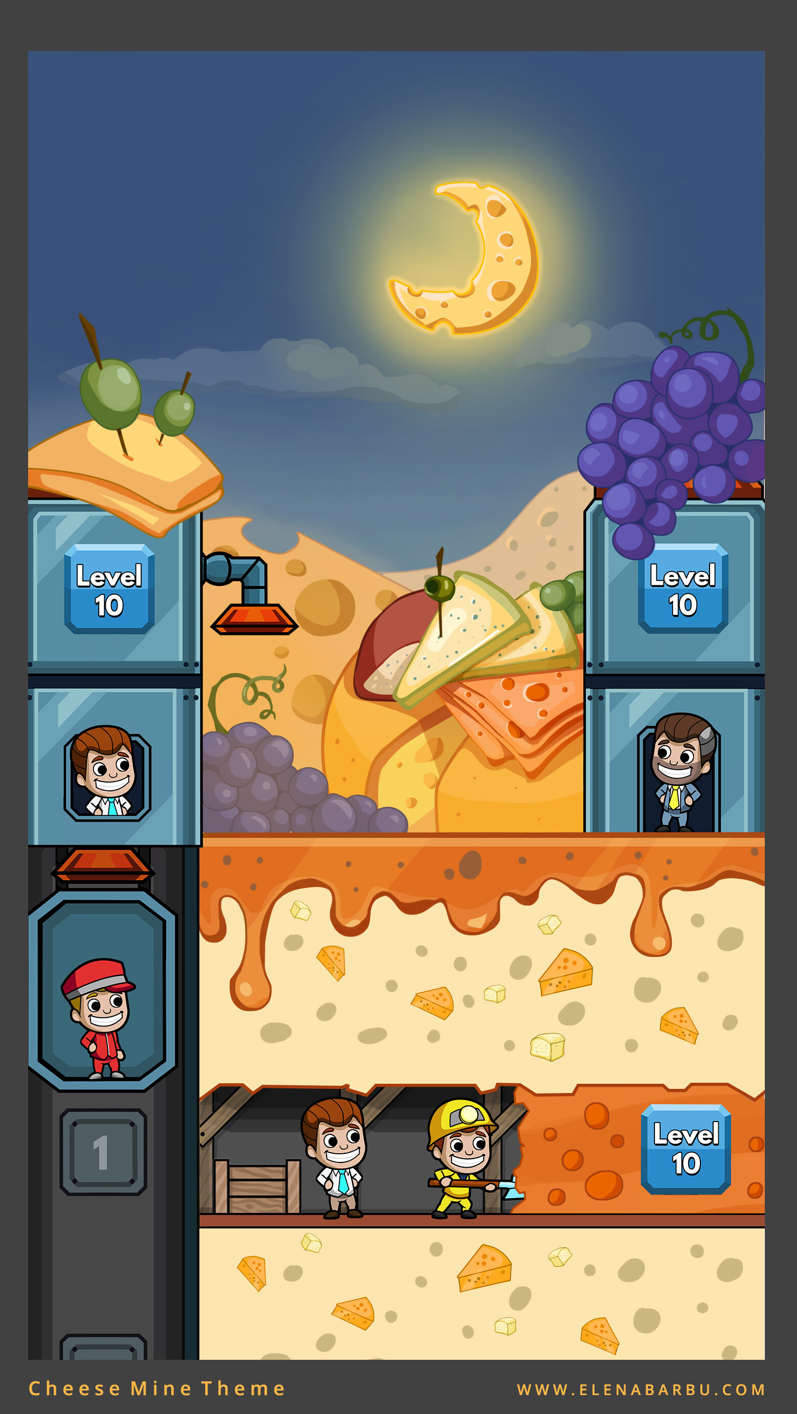 Cheese Mine Background Theme