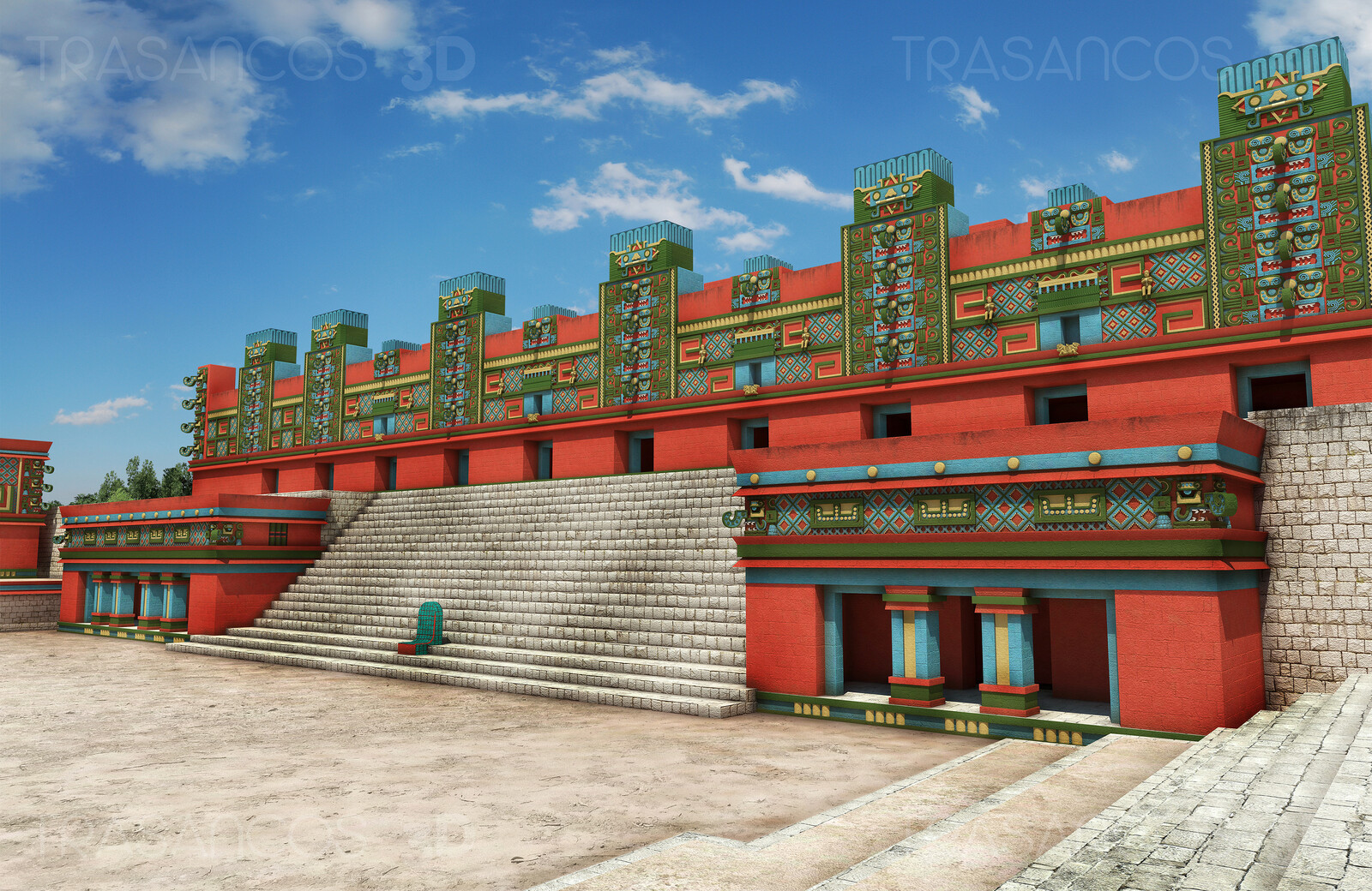 Reconstruction of the Nunnery Quadrangle in Uxmal. Modeled in collaboration with: - Diego Blanco