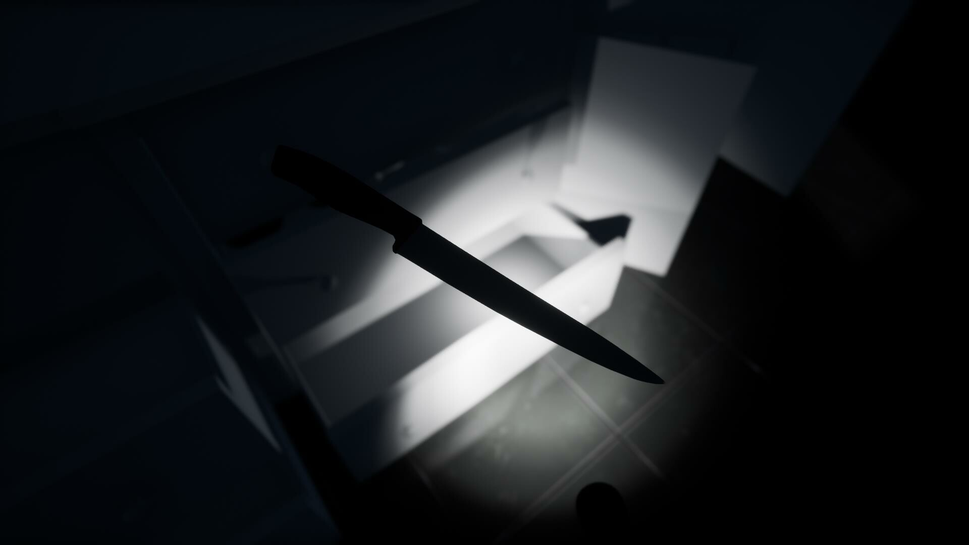 a foreboding knife being inspected by the player