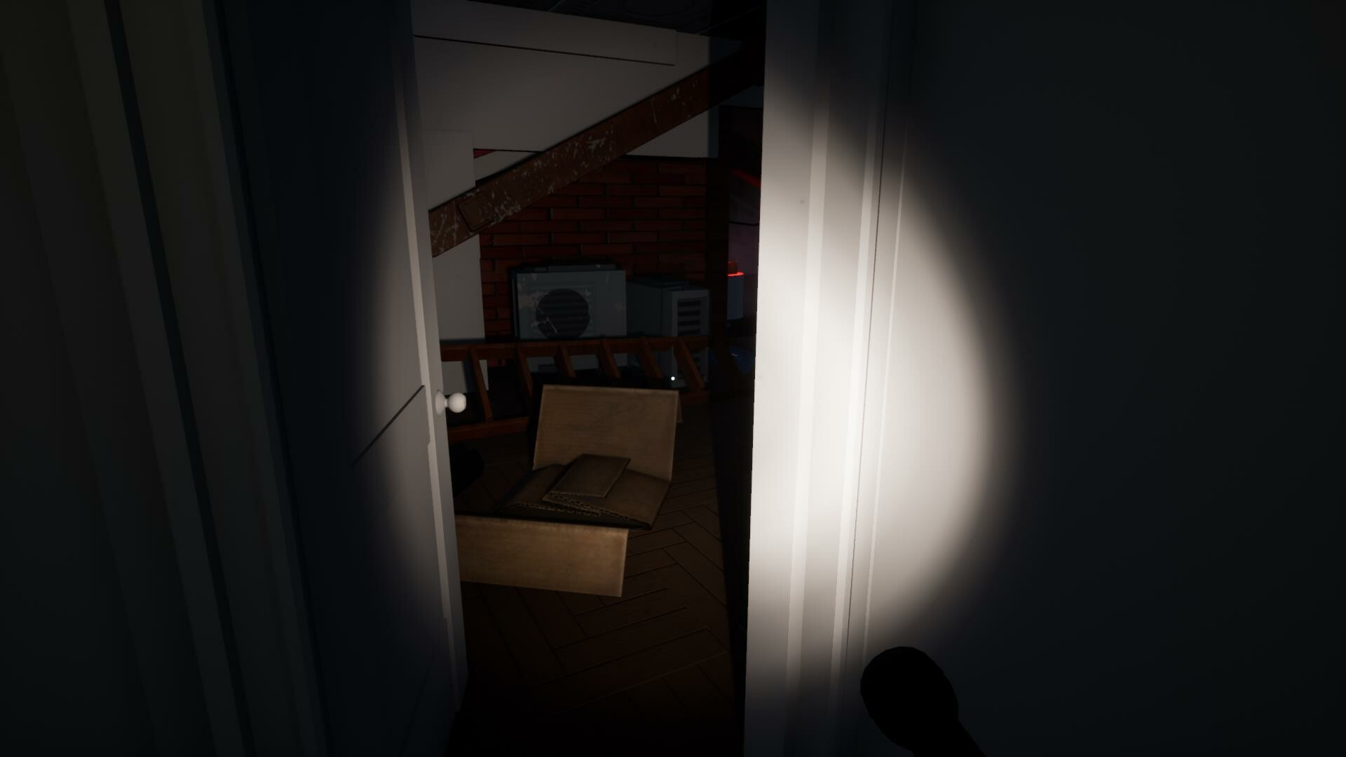 The player eliminates another bear and enters the attic with a key