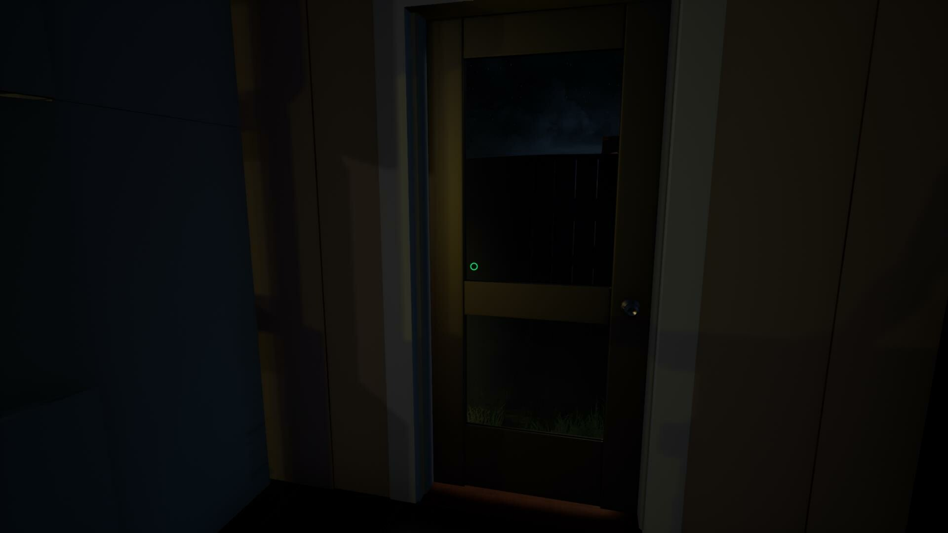 This door remains locked until the end of the game. The player is trapped in the house,