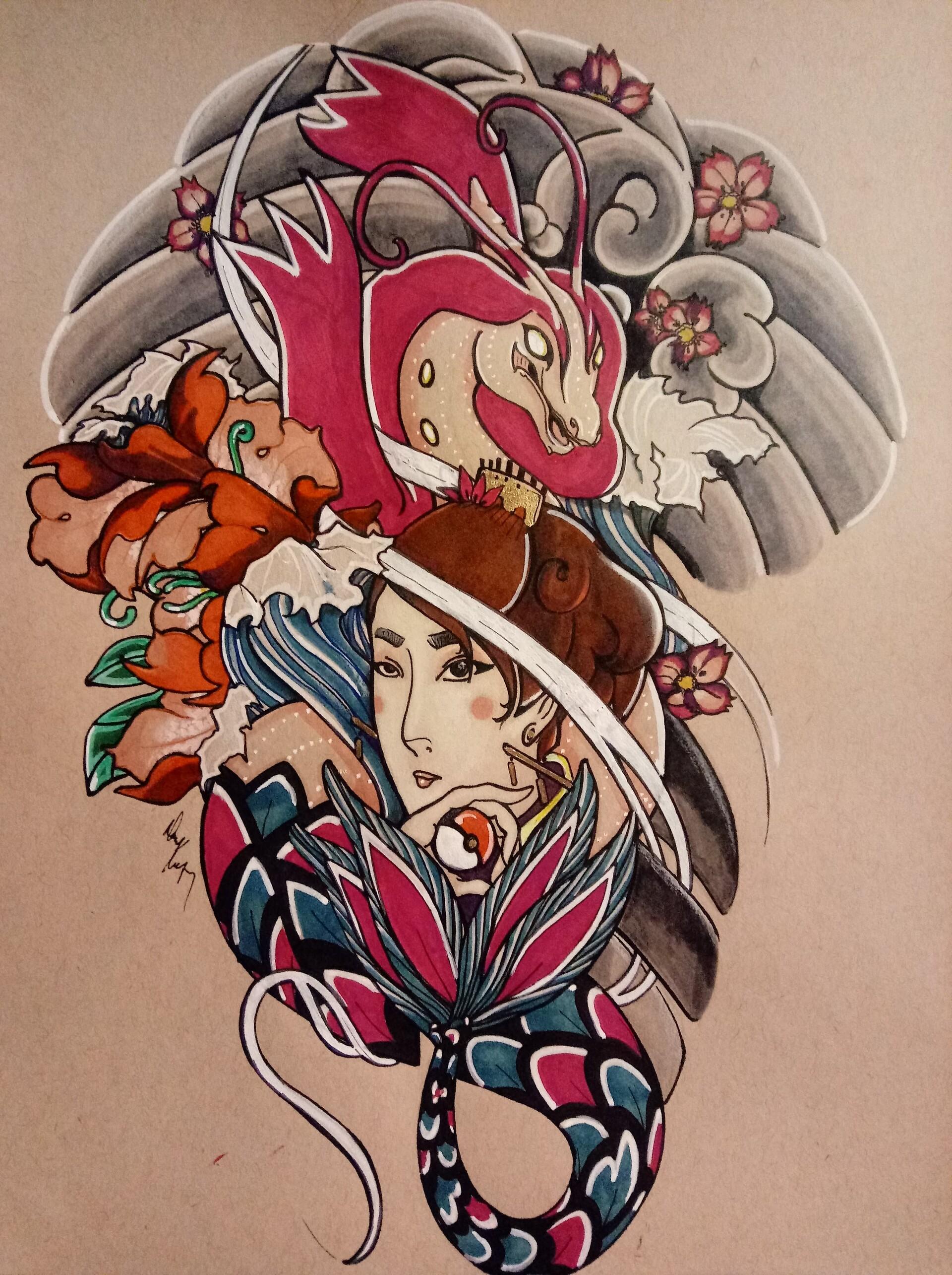 Danielle keeton japanesetraditional pokemon dani milotic
