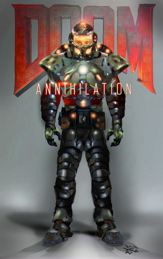 Artstation Annihilation Doom Guy Jack Williamson
