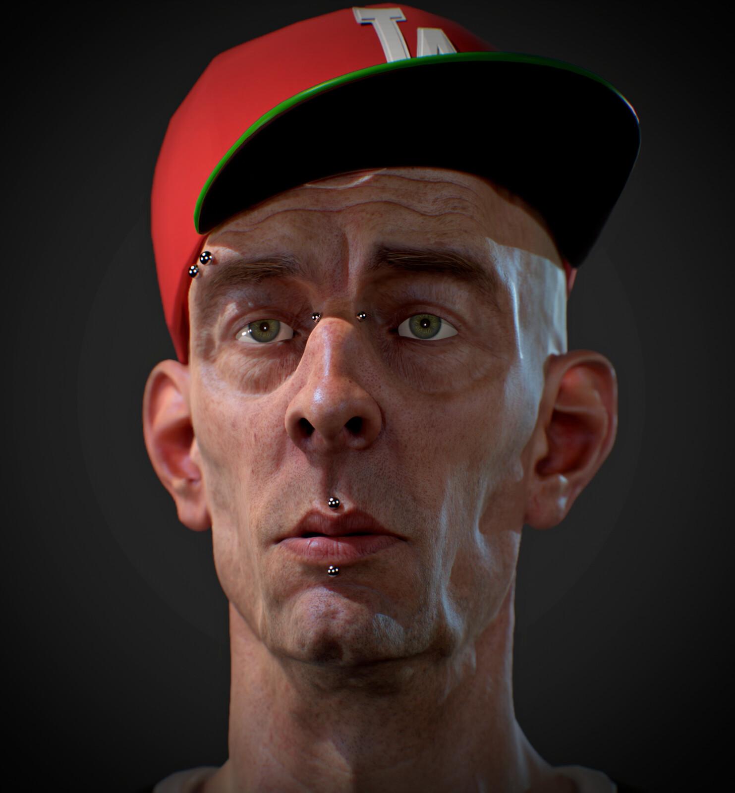 LA Dodger Fan - Marmoset Toolbag 3 renders