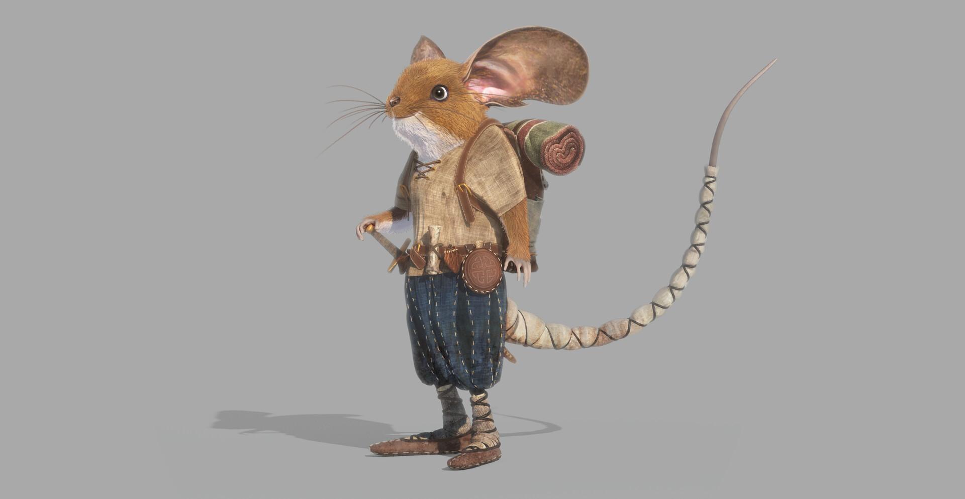 Jordi van hees mr whiskers character beauty render final presentation 3