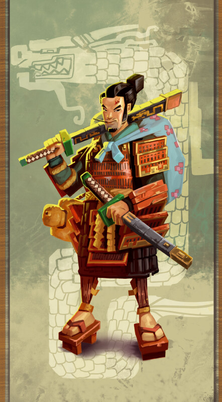 one of the 6 samurai you can play