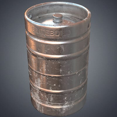 Pixelcloud studio steel beer barrel 3d model low poly obj mtl fbx blend