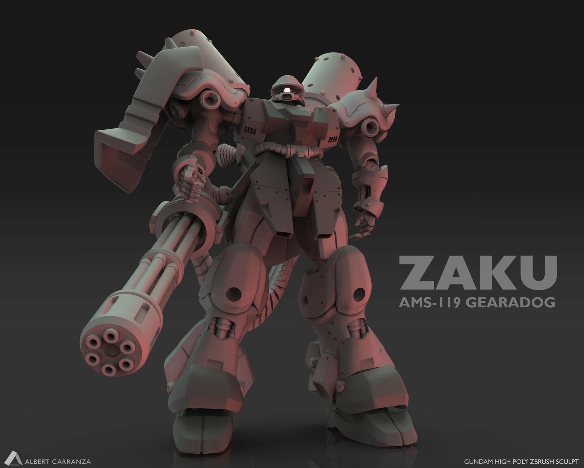 Zaku Sculpt made in Zbrush