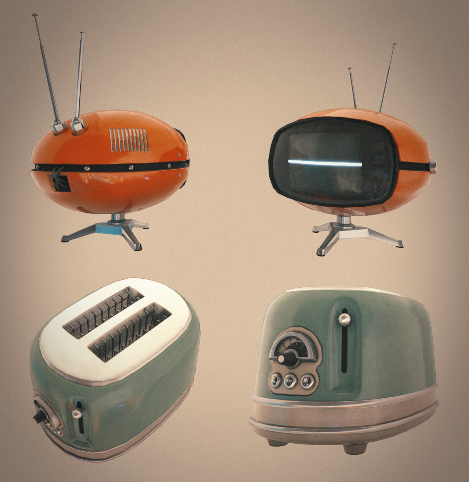 TV and Toaster