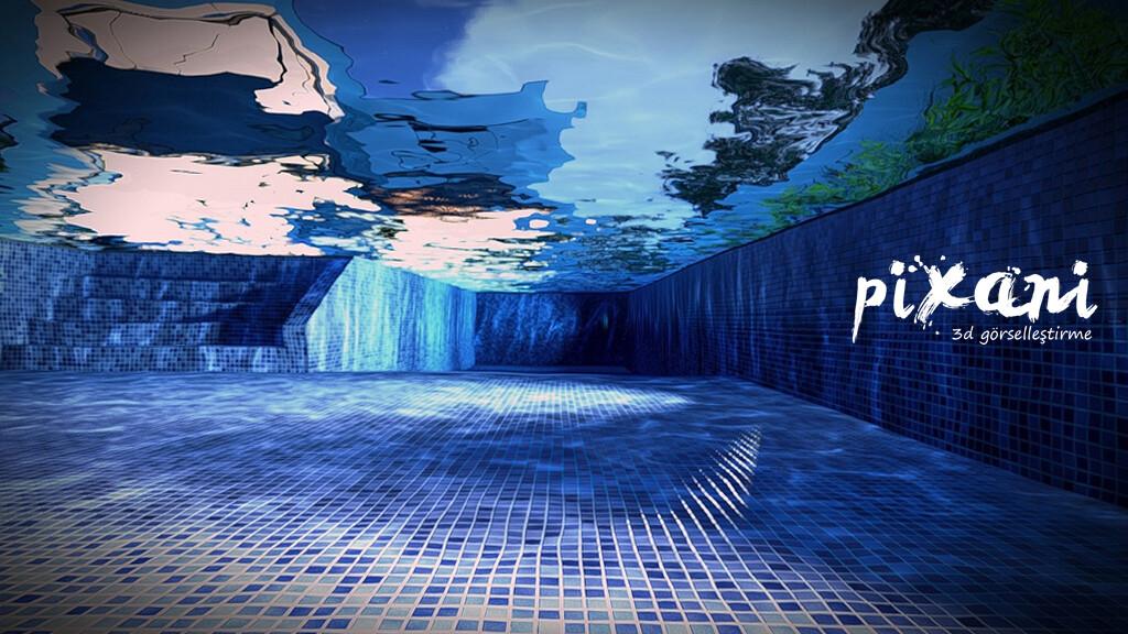 Pool Inside  3D Modeling & Render