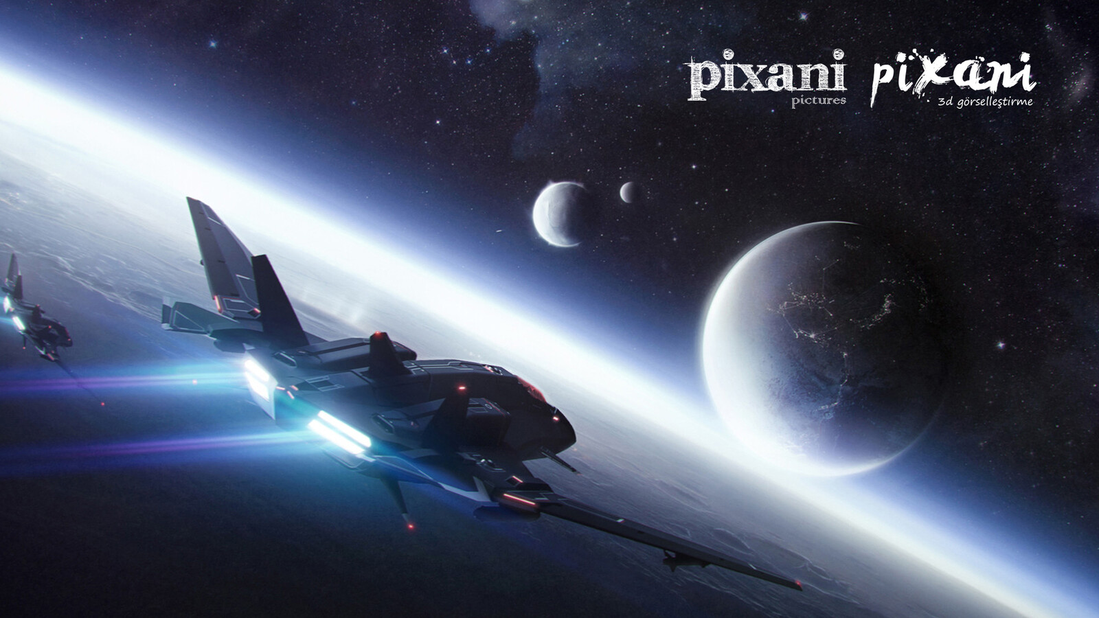 Pixani Studios is expert on environment and architectural visualization & animation.  We're representing you our modeling and rendering works based on Space visualizations and Science Fiction 3D scenes.