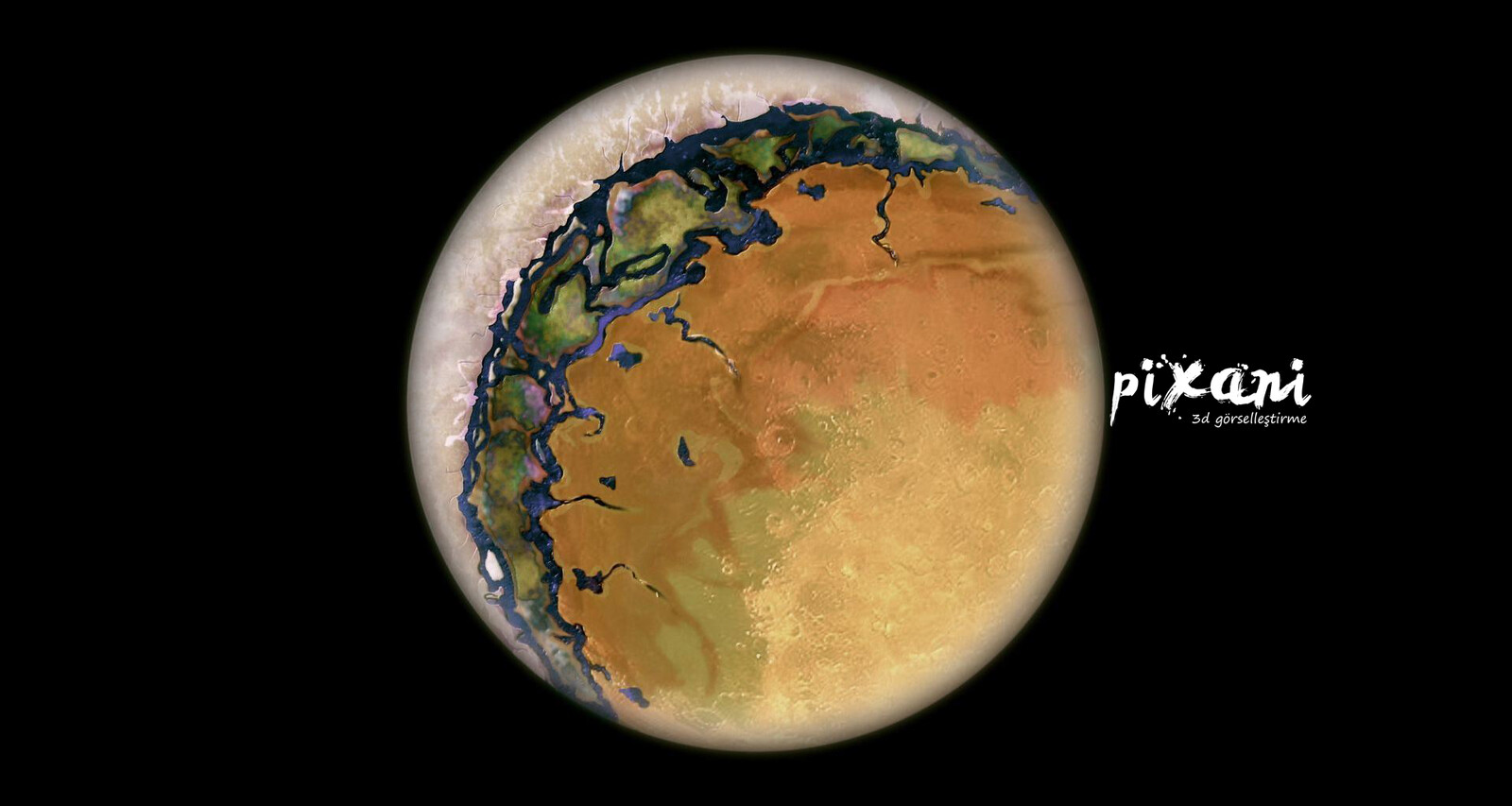 Half snow and half desert planet - how?  This's all about turning around it's own star speed and turning spin speed of Planet. If spin speed is much more slower or turnway around Star is very fast, so similar result for each era.  Like Moon & Earth