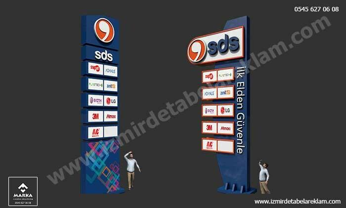 Izmir tabela reklam hizmetleri totem tabela reklam tasarimlari izmir