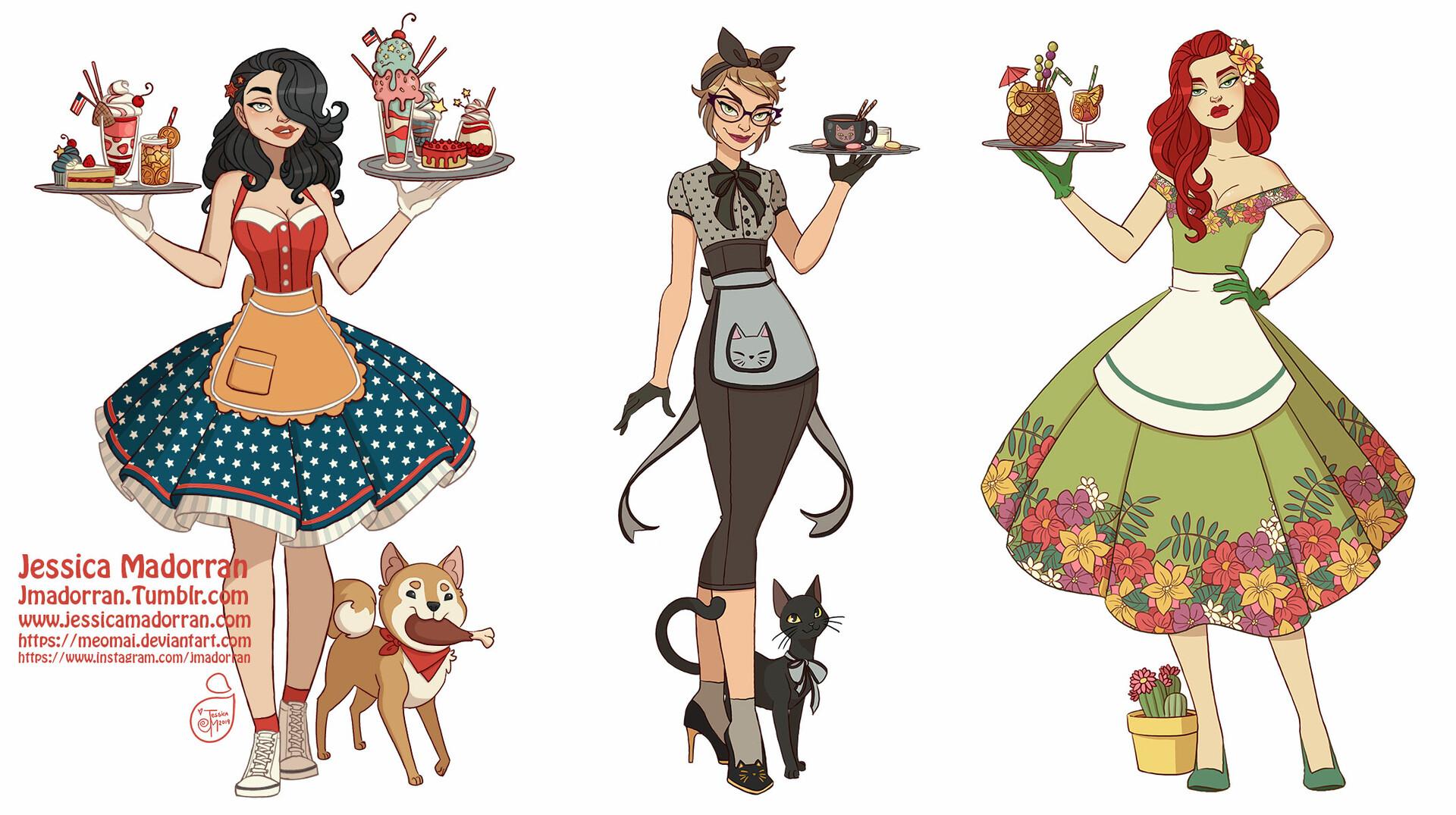 Jessica madorran character design dc 50s style 2019 artstation 01