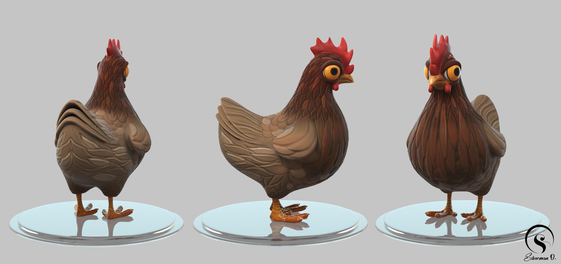 ArtStation - CSGO Chicken Character FanArt, Siserman Oana Alexandra