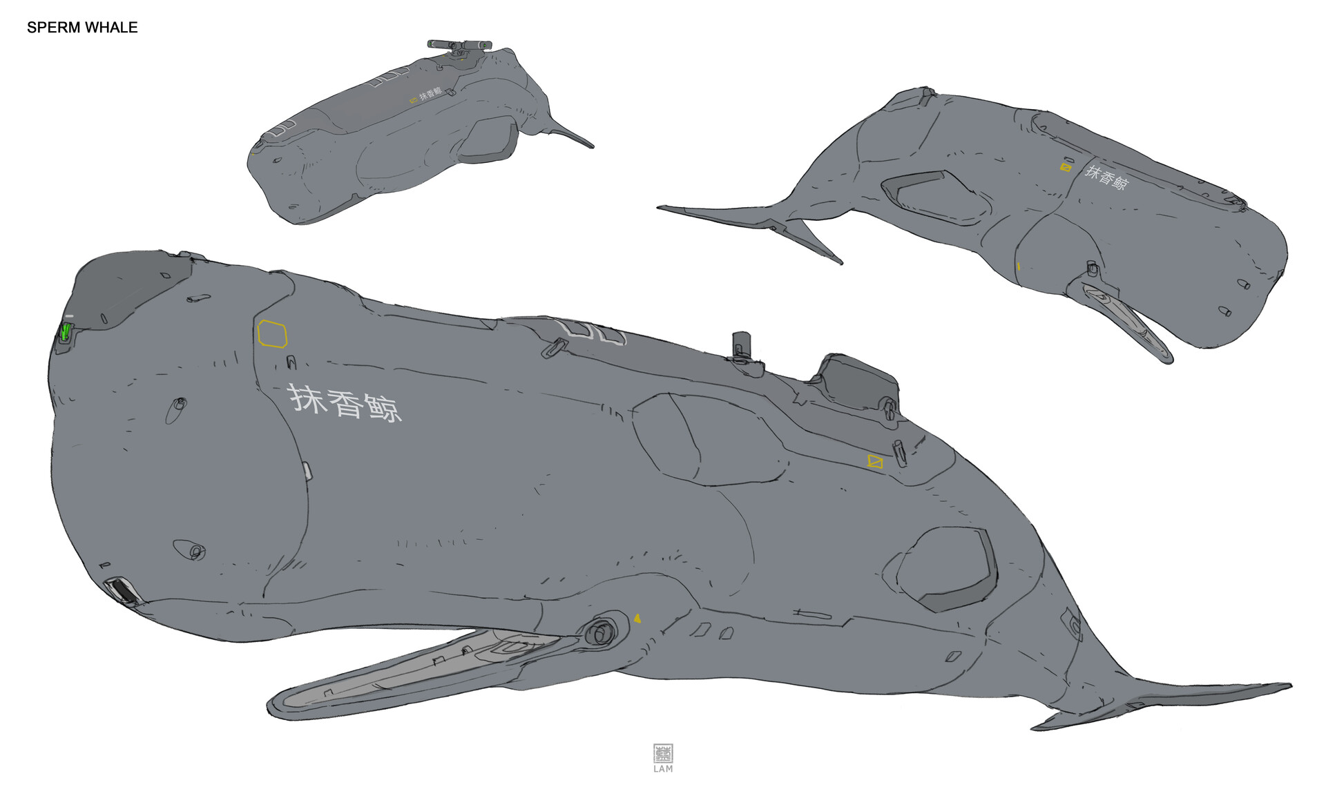 Sheng lam 8 sperm whale