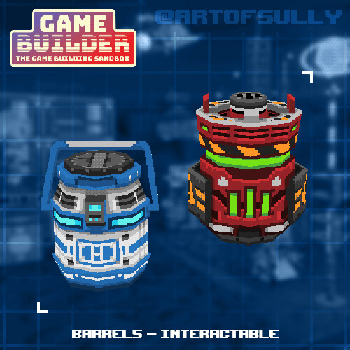Barrels - Interactable (assets for 'Game Builder')