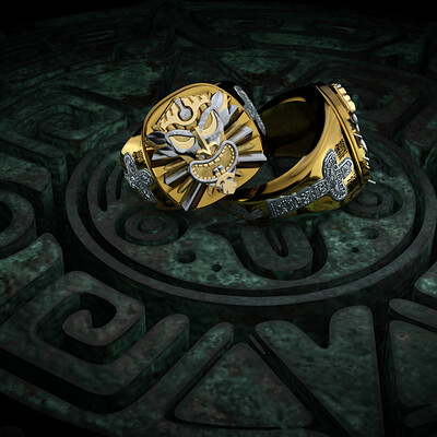"Men's jewelry ring - ""Totem"""