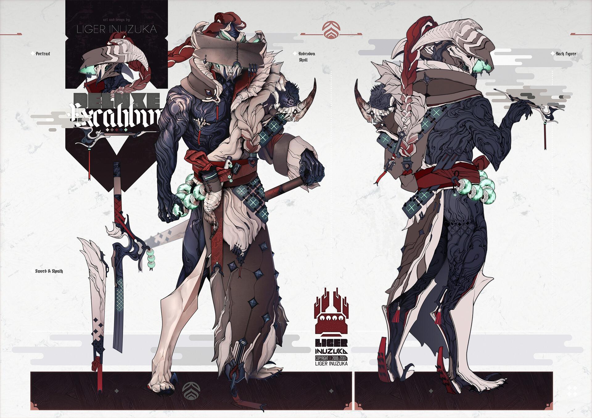 Liger inuzuka excalibur deluxe final by liger inuzuka 2500px
