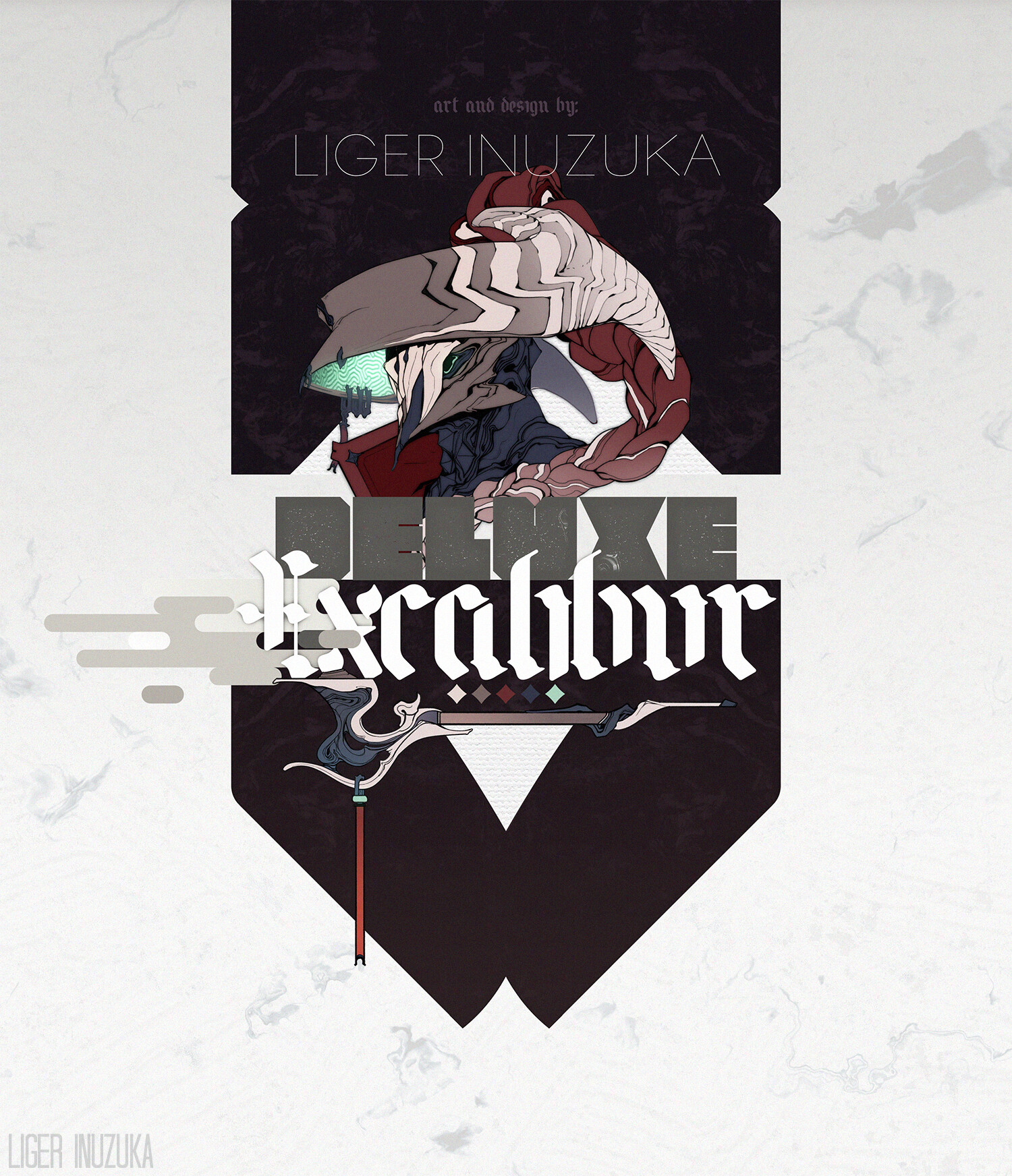 Liger inuzuka excalibur logo design