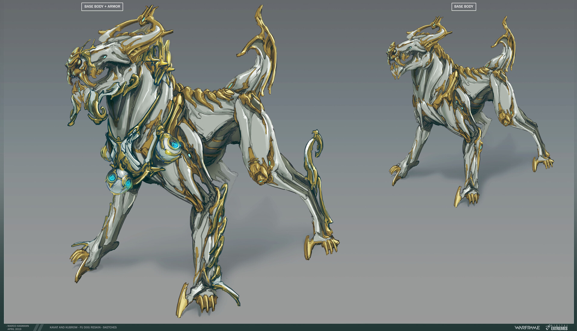 Started venturing into the Orokin-Mechanical Kubrow idea.