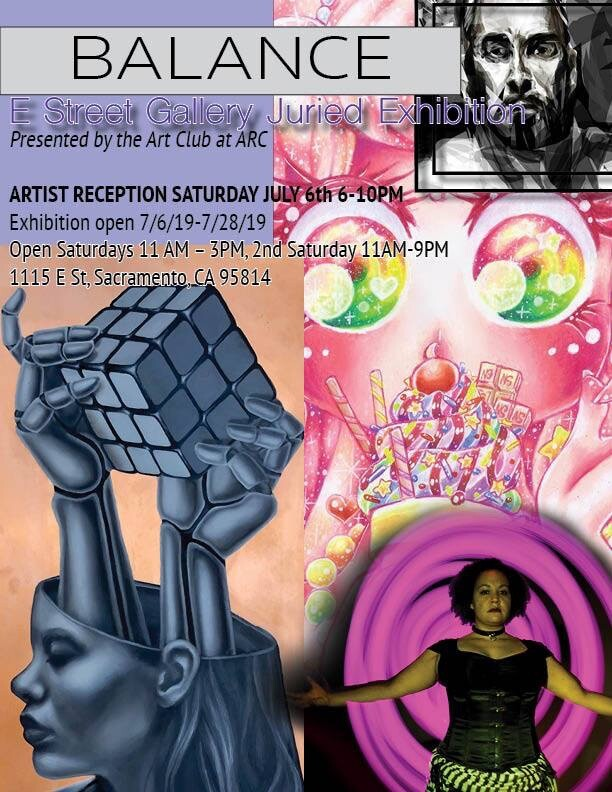 """This flyer featuring my work """"Pink Sugar"""" was composed by Jade Jacobs."""