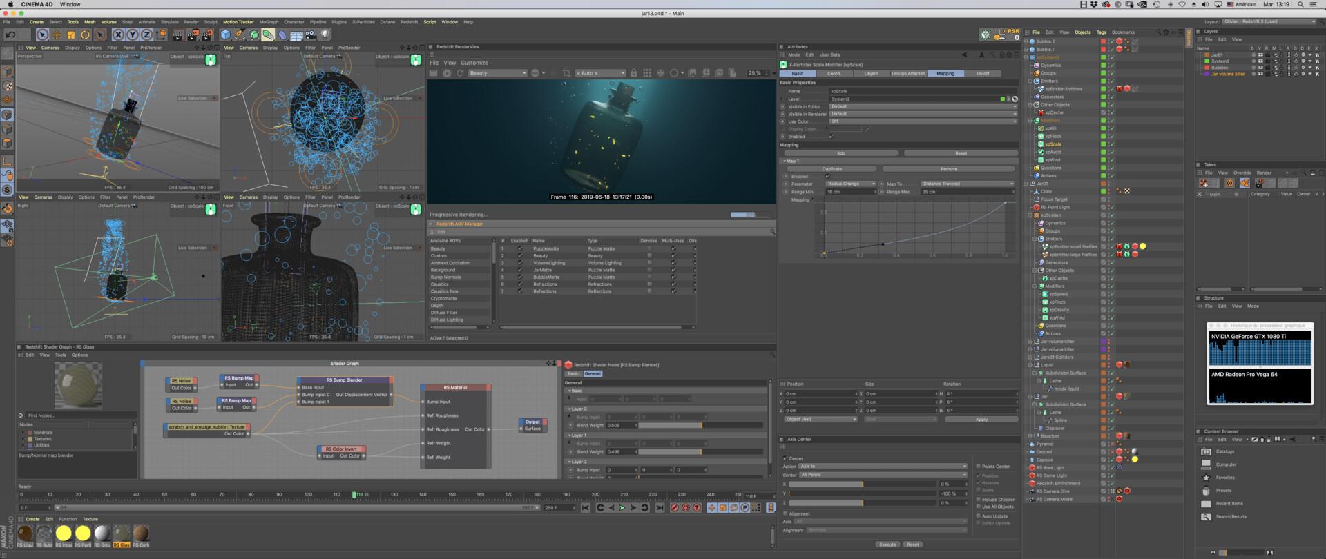 Screen capture - Using Nvidia GTX 1080 TI  on an iMac Pro!