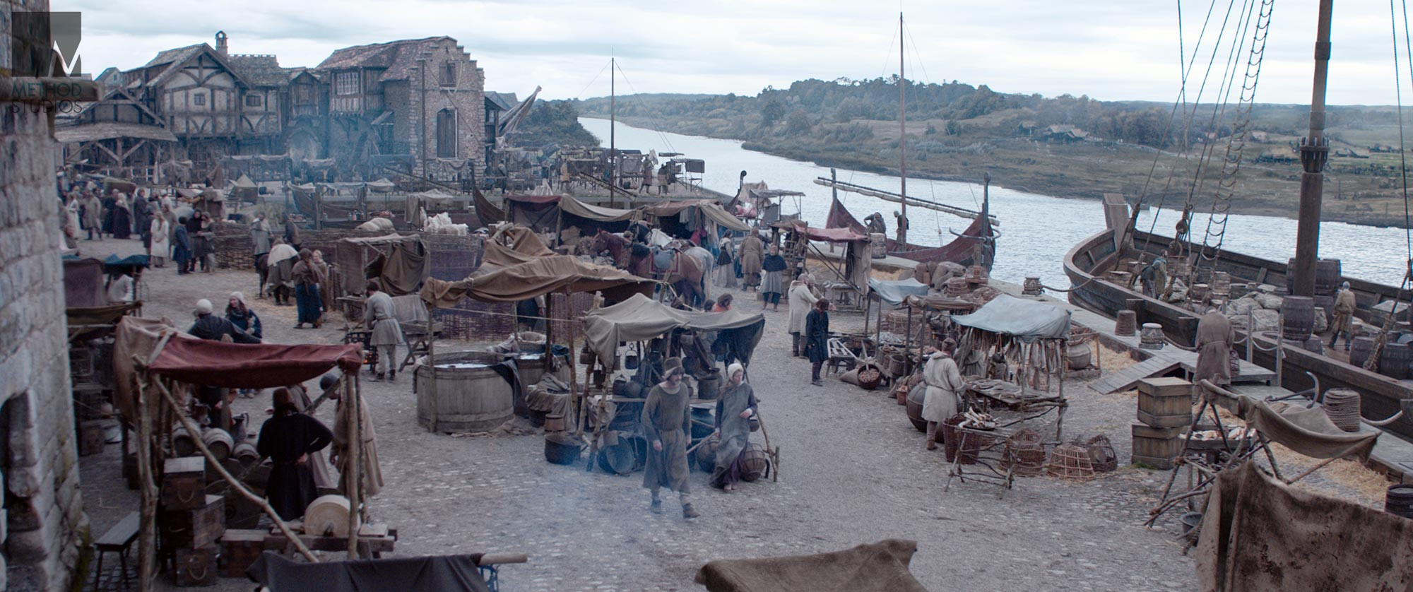Another piece of Berwick background cyclorama matte painting.