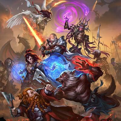 Mighty Heroes Splash Art