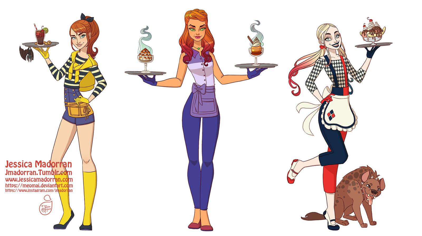 Character Design - DC 50s Fashion Theme 02