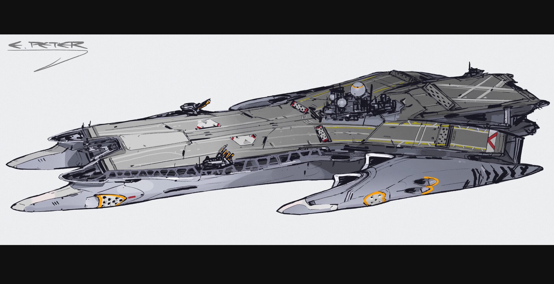 West aircraft carrier (L)
