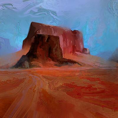 Madeline buanno desert landscape study 2