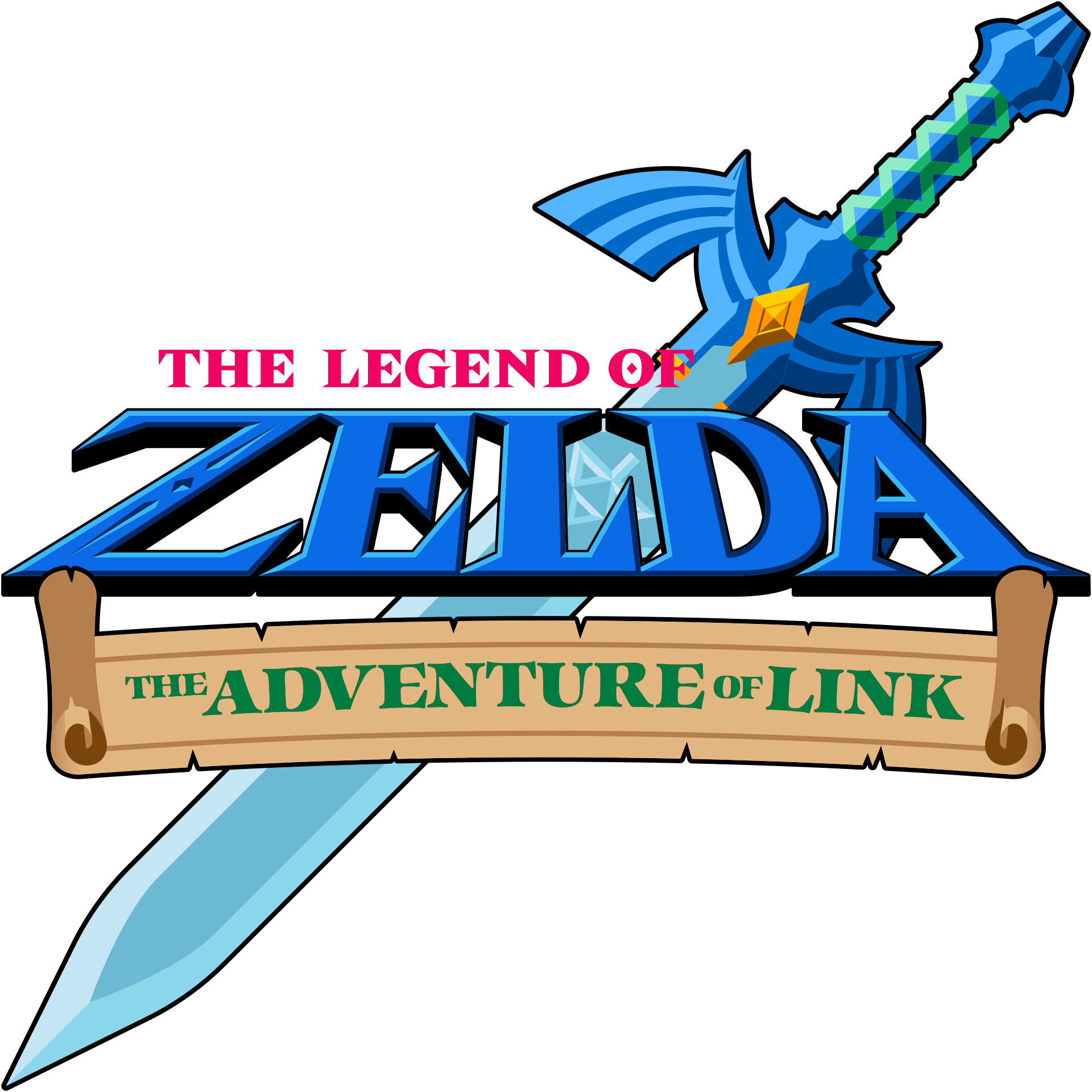 Daniel bernal bernal daniel zelda 2 the adventure of link 2 logo