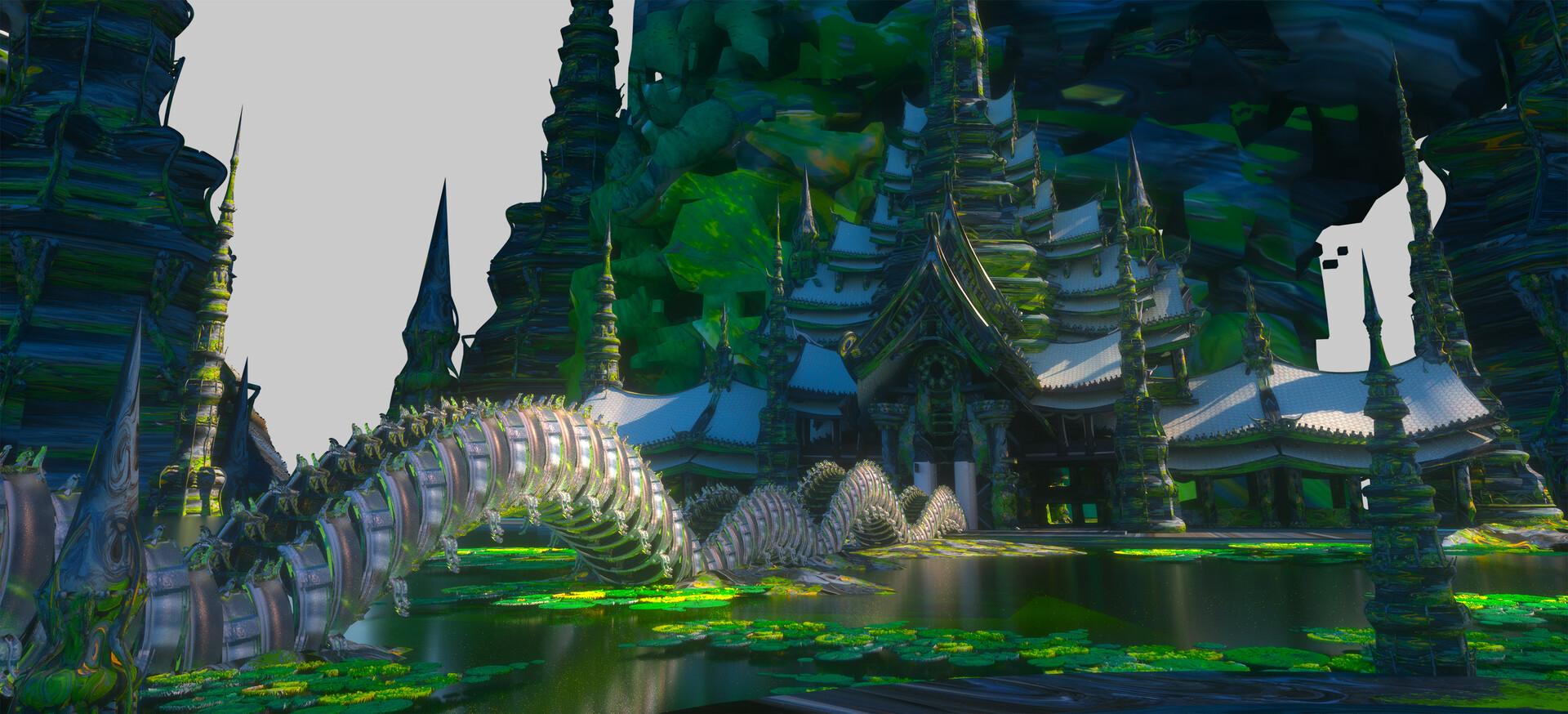 Leon tukker thai temple highres3d