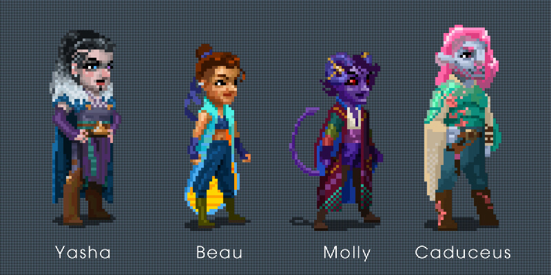 Artstation Cr Mighty Nein Pixel Art Character Designs