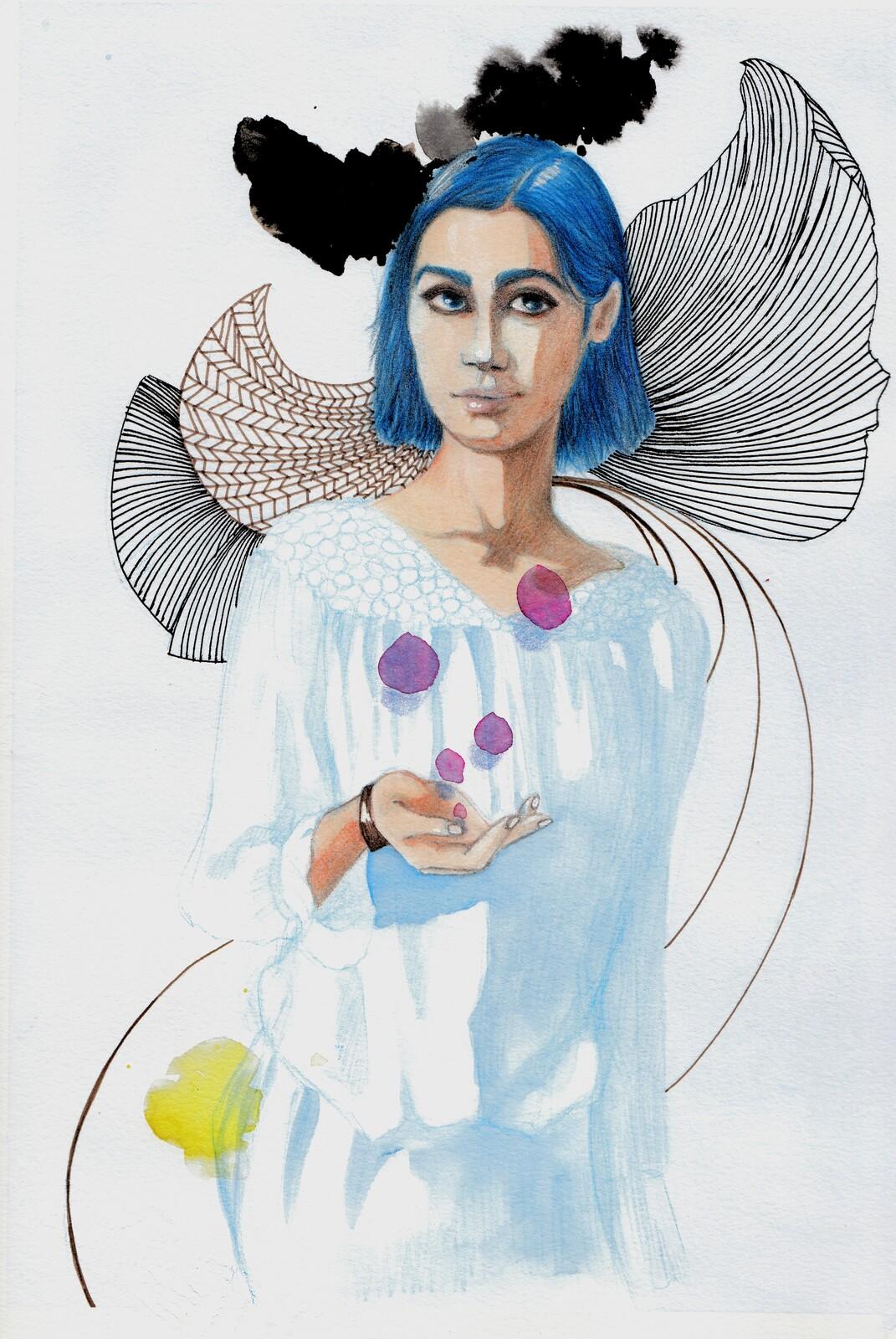 Blu fashion illustration