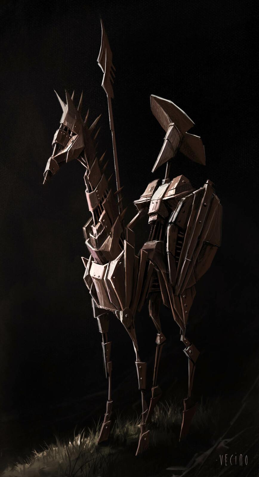 Don Quixote  little statue concept