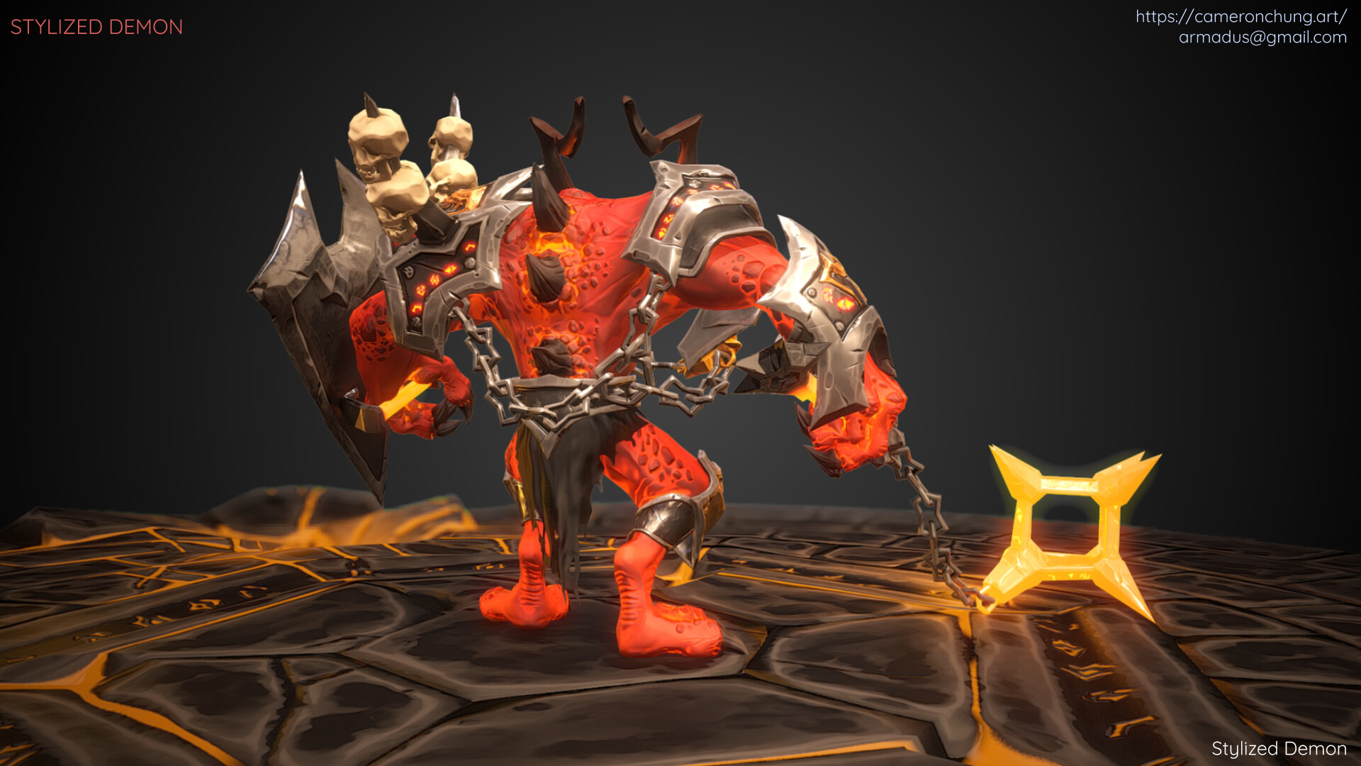 Stylized Demon - Marmoset Toolbag 2