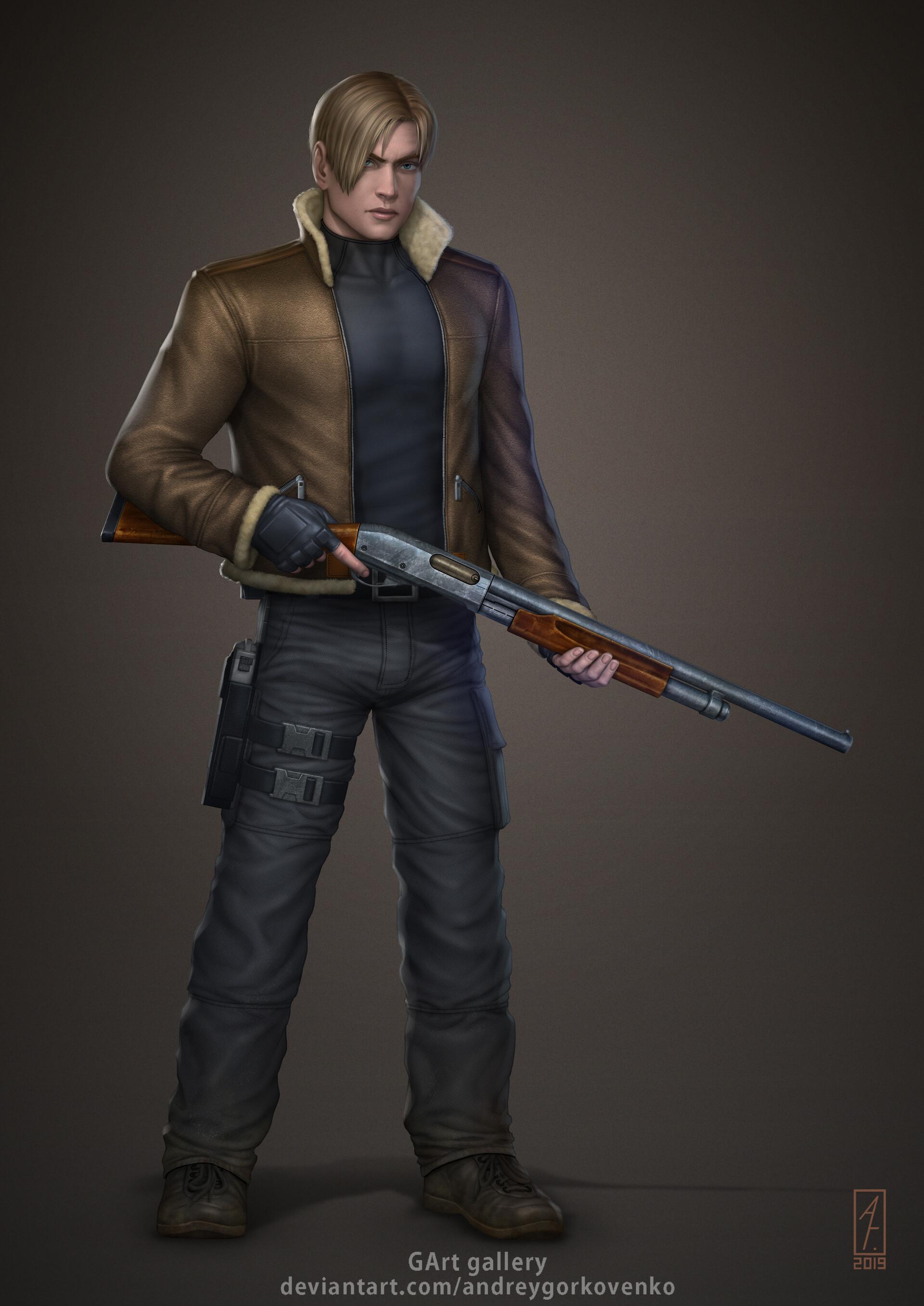 Artstation Leon Kennedy Resident Evil 4 Andrey Gorkovenko